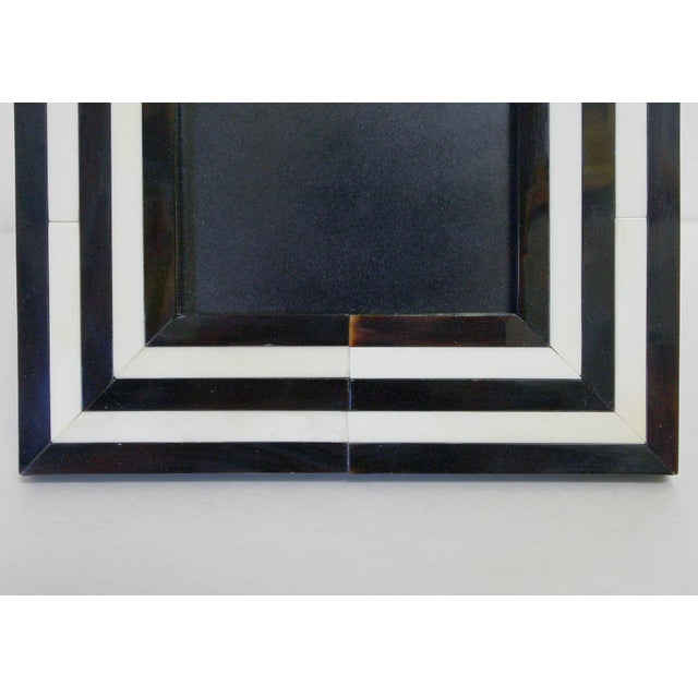 Fabio Ltd Black and White Horn Photo Frame by Fabio Ltd For Sale - Image 4 of 7