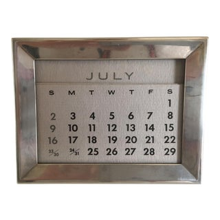 Tiffany Antique Sterling Silver Perpetual Calendar For Sale