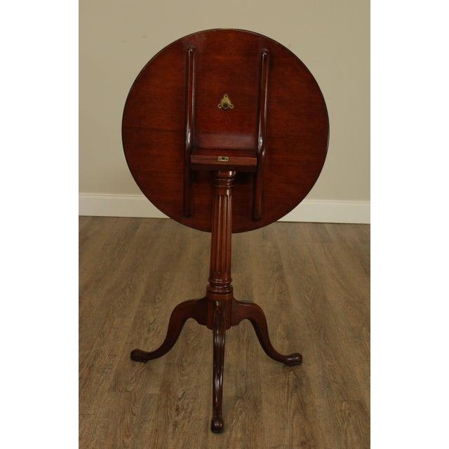 Biggs Thomas Jefferson Round Mahogany Tilt Top Candlestand For Sale In Philadelphia - Image 6 of 13