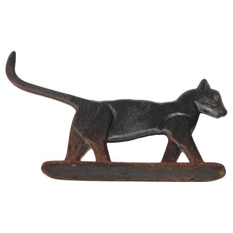 19th Century Cast Iron Cat Boot Scraper - Image 2 of 7