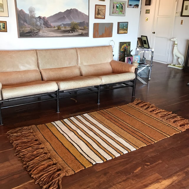 Mid-Century Handwoven Rug - Image 5 of 8
