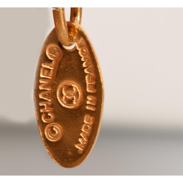 French Chanel Gold Colored Bracelet Rue Cambon Tag Charm For Sale - Image 3 of 5