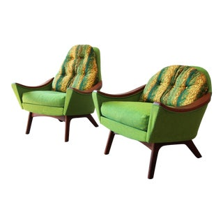 Original Adrian Pearsall Mid-Century Modern His and Hers Lounge Chairs, 1960s For Sale