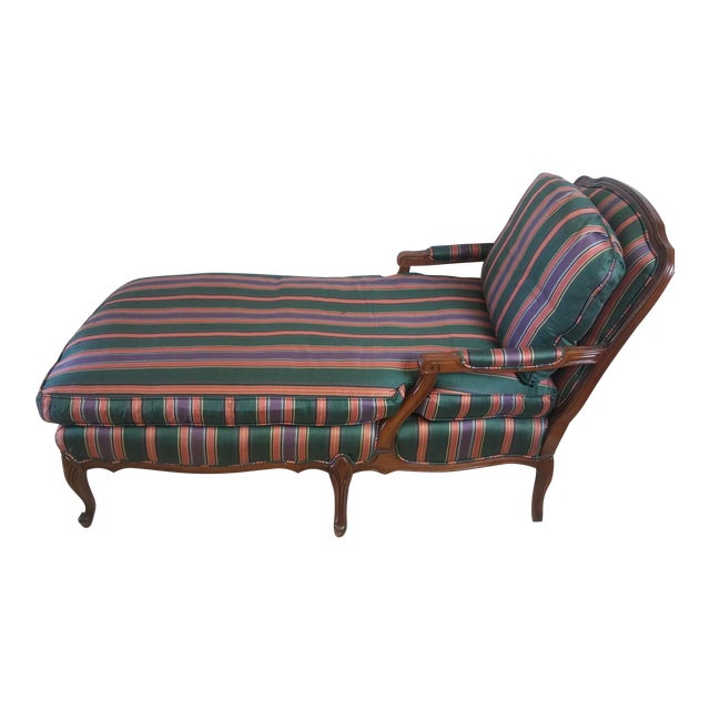 Louis XV Style French Provincial Chaise Lounge For Sale