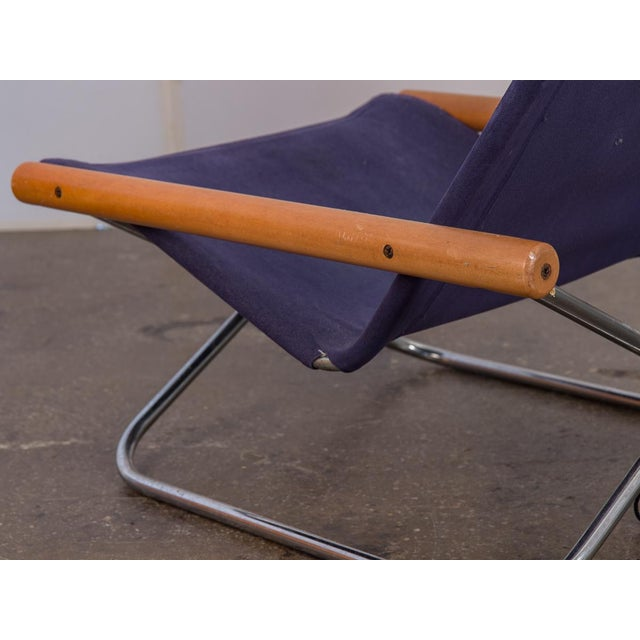 Canvas NY Folding Sling Chair by Takeshi Nii For Sale - Image 7 of 10
