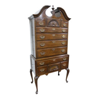 1990s Chippendale Chest on Chest by Drexel For Sale