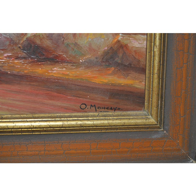 1950s Ecuadorian Mountain Village Painting For Sale - Image 5 of 7