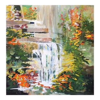 """Fallingwater"" Contemporary Painting For Sale"