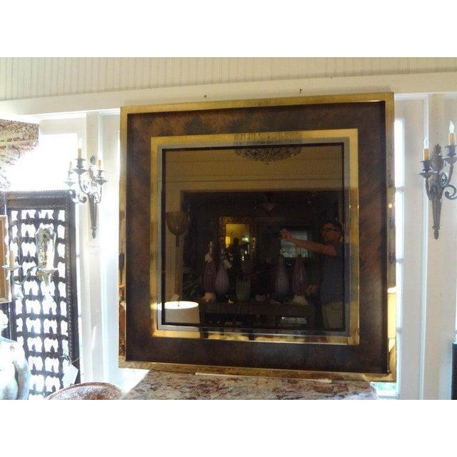 Mid-Century Modern Italian Romeo Rega Style Mid-Century Modern Square Mirror For Sale - Image 3 of 10
