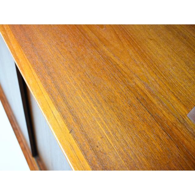1950s Danish Modern Arne Vodder for Sibast Teak Sideboard Hutch For Sale - Image 9 of 13