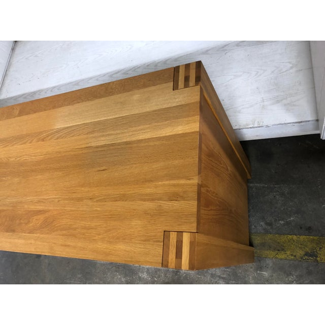 Lights 1900s Danish Modern Oak Dresser For Sale - Image 7 of 10