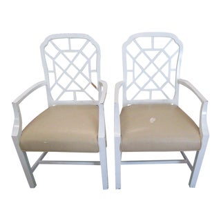 Kindle Fretwork Chairs - a Pair For Sale