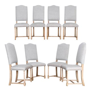 1950s Belgian Upholstered Dining Chairs - Set of 8 For Sale