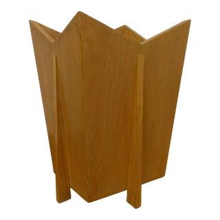 Frank Lloyd Wright Wood Waste Basket For Sale