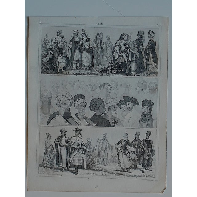 Antique Print Different Races & Cultures - Image 3 of 3