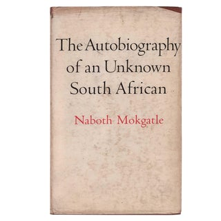 "1971 ""The Autobiography of an Unknown South African"" Collectible Book For Sale"