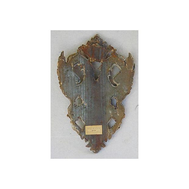 Vintage Carved Spanish Heraldic Shield Plaque For Sale In Los Angeles - Image 6 of 9