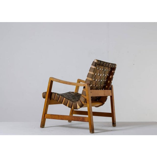 Mid-Century Modern Jens Risom Model 652 Webbed Lounge Chair for Knoll, USA, 1940s For Sale - Image 3 of 10