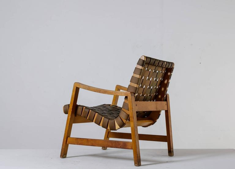 Jens Risom Model 652 Webbed Lounge Chair For Knoll, USA, 1940s   Image 3