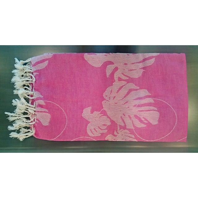 'Rio' Fuchsia Cotton Throw/Towel - Image 3 of 6