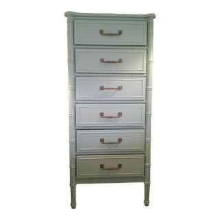 1970s Vintage Henry Link Bali Hai Painted Lingerie Chest of Drawers
