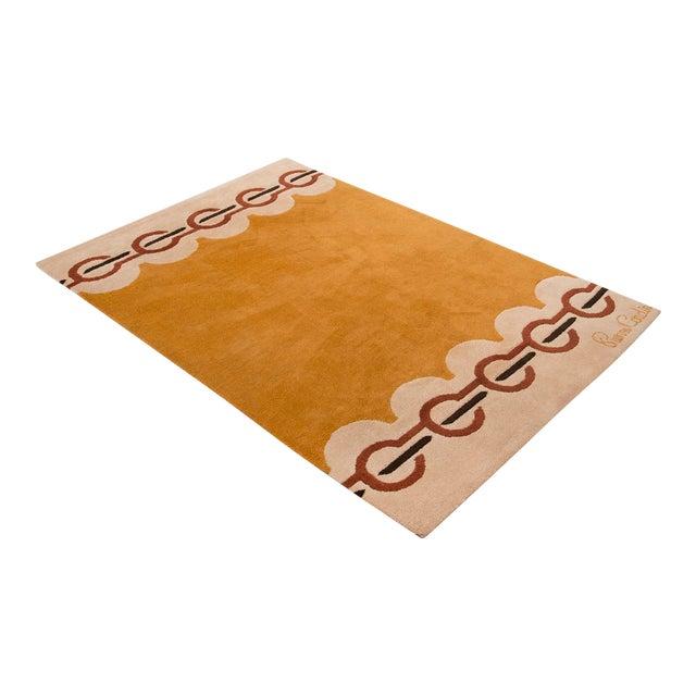 Modernist Wool Rug by Pierre Cardin in Golden Yellow, Denmark 1960s For Sale