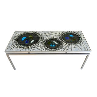 Brutalist Ceramic Tile Coffee Table by Belgian Artist Juliette Belarti For Sale