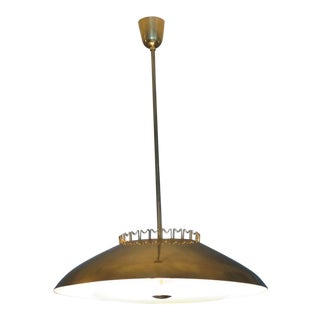 1950s Mid-Century Modern Lisa Johansson-Pape for Orno Brass Chandelier For Sale