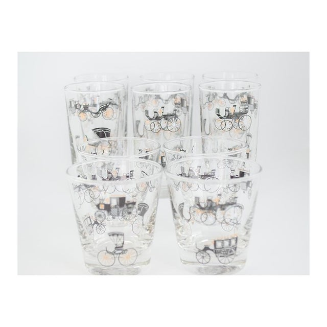 Glass Libbey Curio/Carriage & Buggy Highball & Rocks Glasses - Set of 10 For Sale - Image 7 of 7