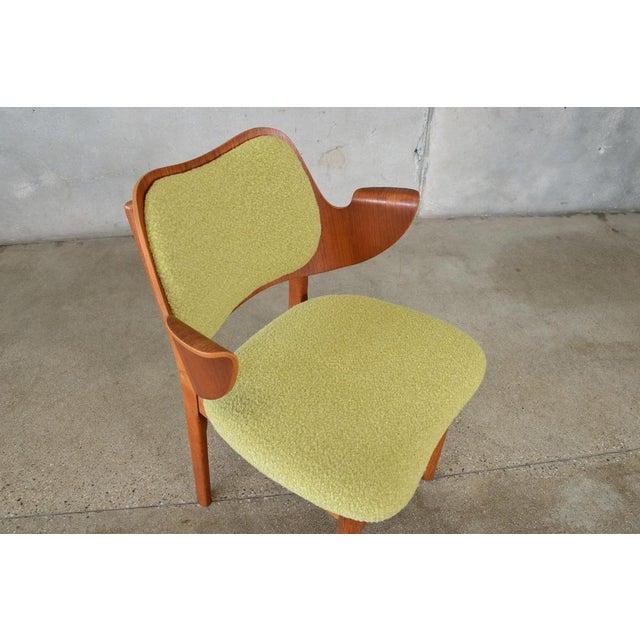 Hans Olsen Bent Teak & Oak Arm Chair - Image 3 of 8