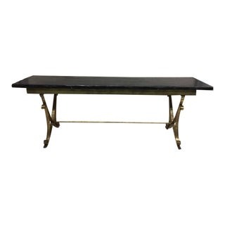 French Modern NeoclassicalGilt Iron Dining Table Attributed Raymond Subes, 1930