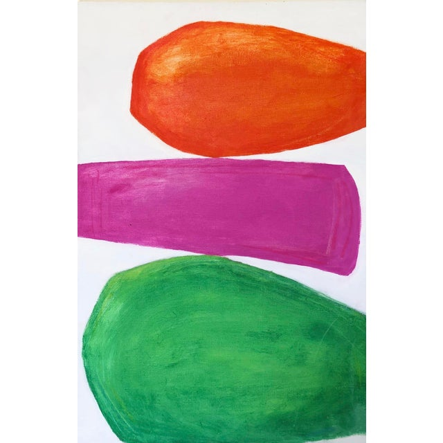 Three Color Abstract Painting For Sale