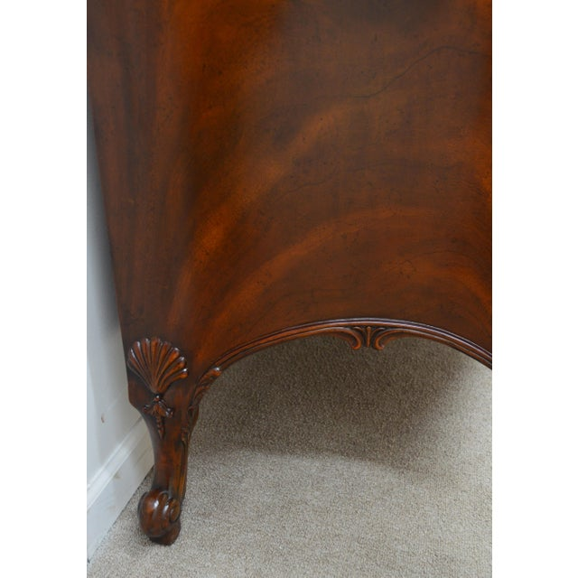 Early 21st Century Maitland Smith Mahogany Chippendale Dresser Chest Commode For Sale - Image 5 of 13