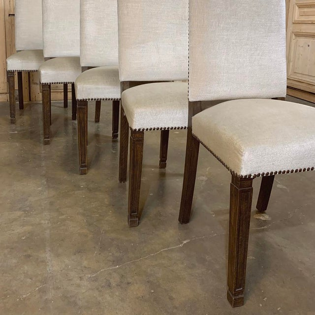 Vintage Mid Century Neoclassical Dining Chairs- Set of 10 For Sale - Image 10 of 13
