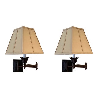 Oil-Rubbed Bronze Articulating Sconces - a Pair For Sale