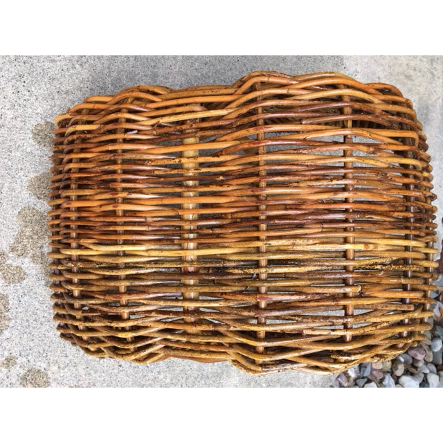 Early 20th Century Vintage Wicker Basket For Sale - Image 5 of 6
