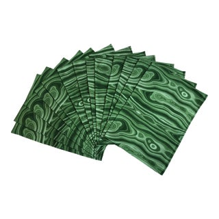 Marbled Green Malachite Placemats - Set of 12