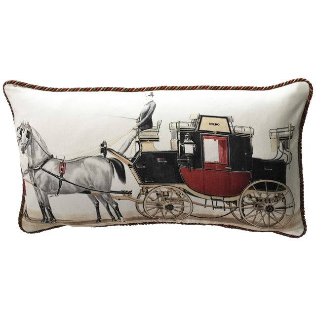 Aranjuez From Madrid Equestrian Accent Pillow - Image 1 of 7