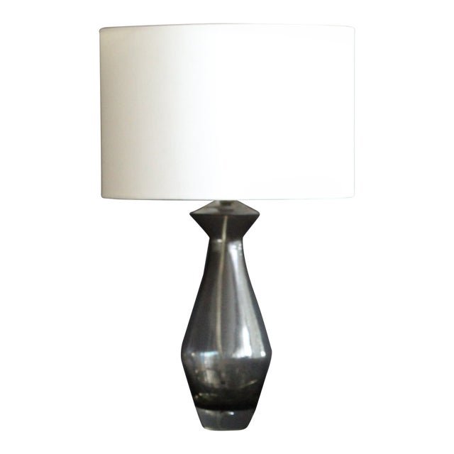 Sculptural Art Glass Table Lamp For Sale