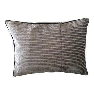 Smoky Gray Chenille Velvet Pillow
