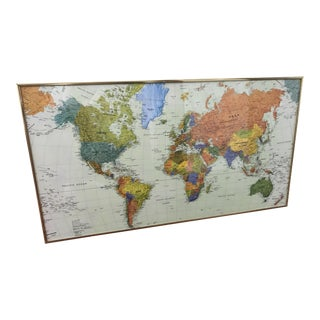 1989 World Map With Oceans