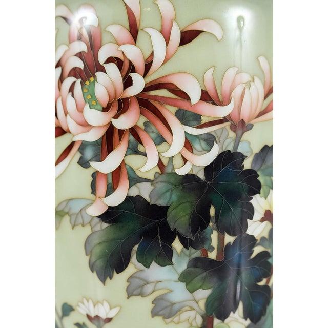 Asian Vintage Japanese Cloisonné Ando Vase For Sale - Image 3 of 9