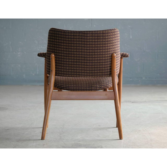 Beech Midcentury Hans Olsen Style Lounge or Accent Chair For Sale - Image 7 of 10