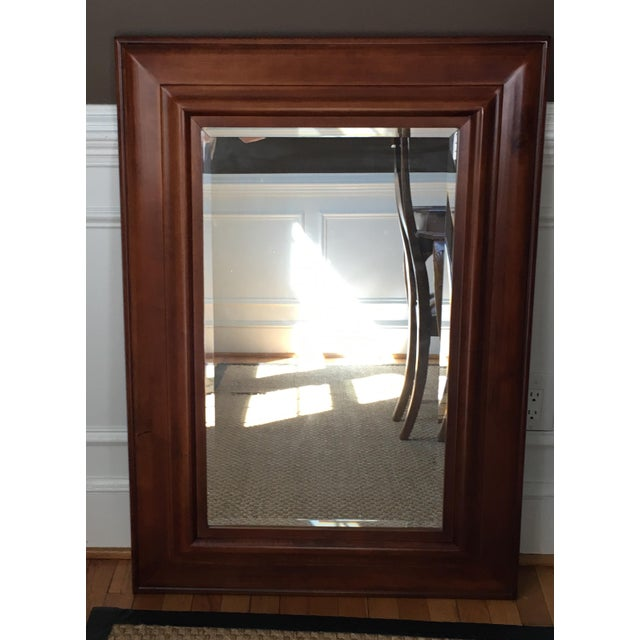 Pottery Barn Cherrywood Beveled Wall Mirror - Image 2 of 6
