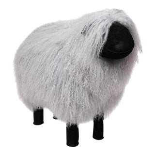 Tibetan Lamb Sheep in Grey Large For Sale