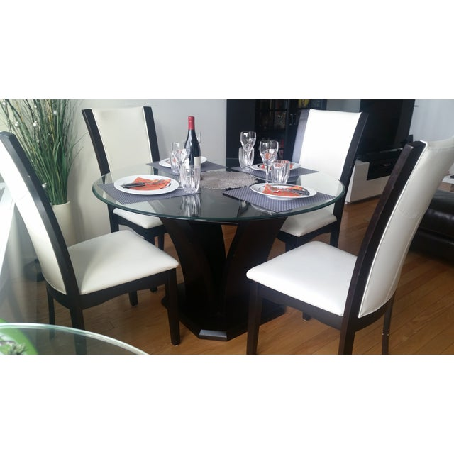 Espresso Glass Dining Table - Image 3 of 4