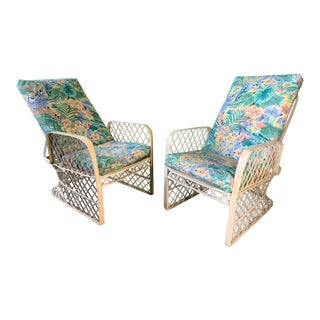 Pair of Russell Woodard Spun Fiberglass Adjustable Lounge Chairs For Sale