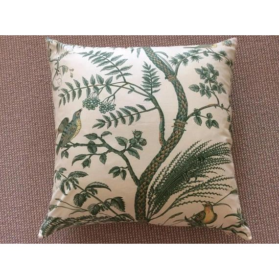Brunschwig & Fils Bird and Thistle Green Pillow Covers - a Pair - Image 4 of 7