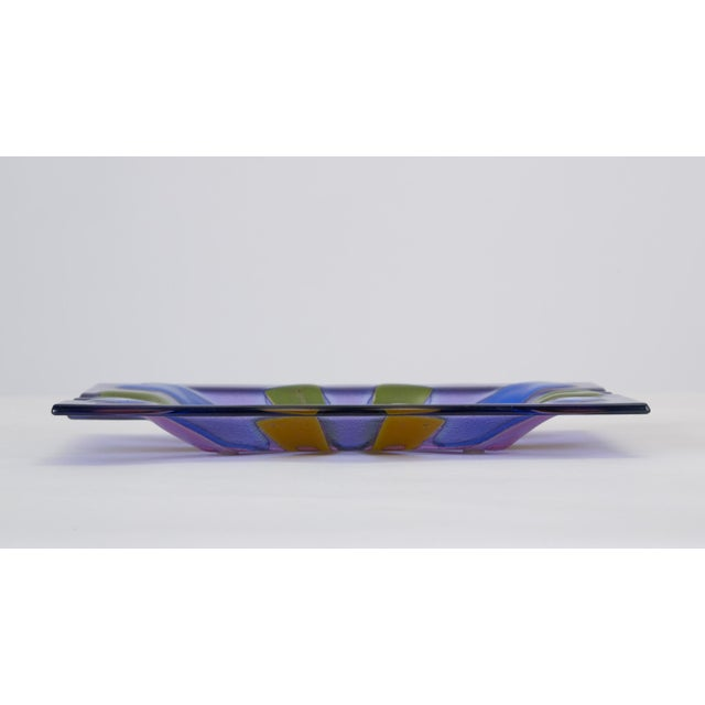 Higgins Glass Mid Century Modern Glass Ashtray by Higgins For Sale - Image 4 of 13