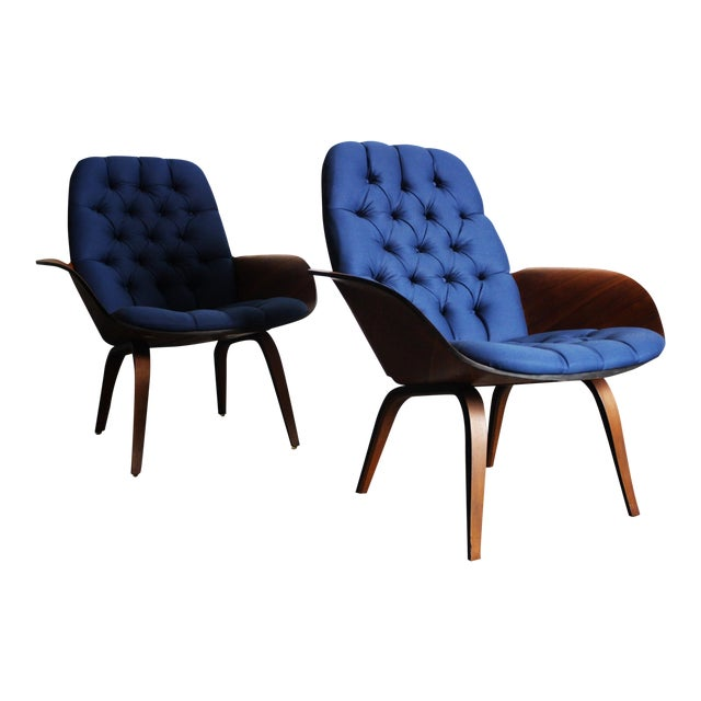 George Mulhauser for Plycraft Lounge Chairs - Pair - Image 1 of 11